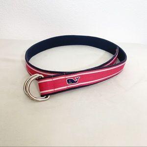 Vineyard Vines l Pink, Blue & White Stripped Belt